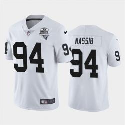 Las Vegas Raiders 94 Carl Nassib Vapor Limited Jersey White Inaugural Jersey