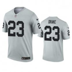 Men Las Vegas Raiders 23 Kenyan Drake Silver Inverted Legend Nike Jersey