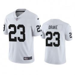 Men Las Vegas Raiders 23 Kenyan Drake White Vapor Limited Nike Jersey