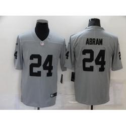 Men Las Vegas Raiders 24 Johnathan Abram Nike Gray Gridiron 2018 Vapor Untouchable NFL Gray Limited Jersey