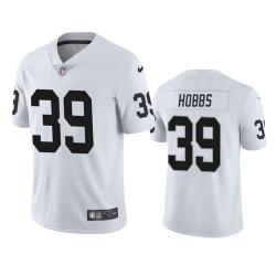 Men Las Vegas Raiders 39 Nate Hobbs White Vapor Limited Jersey