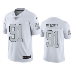 Men Las Vegas Raiders 91 Yannick Ngakoue Color Rush Limited Jersey