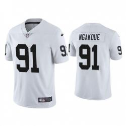 Men Las Vegas Raiders 91 Yannick Ngakoue Vapor Limited White Jersey