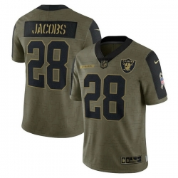 Men's Las Vegas Raiders Josh Jacobs Nike Olive 2021 Salute To Service Limited Player Jersey