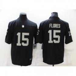 Men's Oakland Raiders #15 Wilmer Flores Nike Black Retired Player Limited Jersey