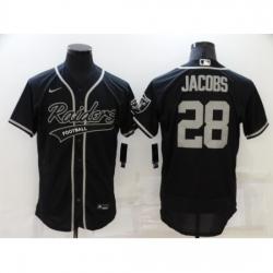 Men's Oakland Raiders #28 Josh Jacobs Black Nike Elite Jersey