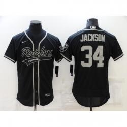 Men's Oakland Raiders #34 Bo Jackson Black Nike Elite Jersey