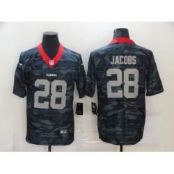 Nike Las Vegas Raiders 28 Josh Jacobs Black Camo Limited Jersey