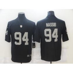 Nike Las Vegas Raiders 94 Carl Nassib Black Vapor Untouchable Limited Jersey