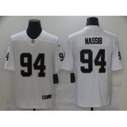 Nike Las Vegas Raiders 94 Carl Nassib White Vapor Untouchable Limited Jersey
