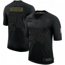 Youth Las Vegas Raiders Charles Woodson 2020 Black Salute To Service Limited Jersey