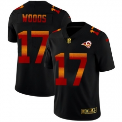 Los Angeles Rams 17 Robert Woods Men Black Nike Red Orange Stripe Vapor Limited NFL Jersey