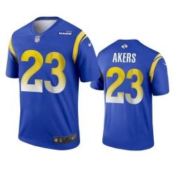 Men Los Angeles Rams 23 Cam Akers 2020 Blue Vapor Untouchable Limited Stitched Jersey