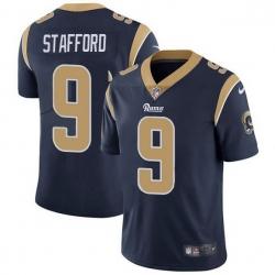 Men Los Angeles Rams 9 Matthew Stafford Navy Blue Team Color Men Stitched NFL Vapor Untouchable Limited Jersey