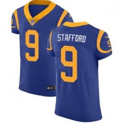 Men Los Angeles Rams 9 Matthew Stafford Royal Blue Alternate Men Stitched NFL Vapor Untouchable Elite Jersey