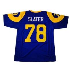 Men Nike Los Angeles Rams Jackie Slater 78 Royal Los Angeles Rams Vapor Limited Jersey