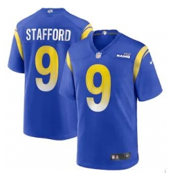 Men Rams Matthew Stafford Blue Vapor Limited Jersey