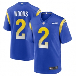Nike Los Angeles Rams 2 Robert Woods Royal 2021 New Vapor Untouchable Limited Jersey