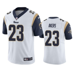 Nike Los Angeles Rams 23 Cam Akers White Men Stitched NFL Vapor Untouchable Limited Jersey
