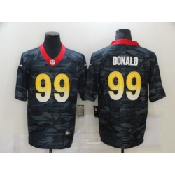 Nike Los Angeles Rams 99 Aaron Donald Black Camo Limited Jersey