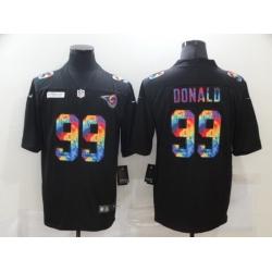 Nike Los Angeles Rams 99 Aaron Donald Black Vapor Untouchable Rainbow Limited Jersey