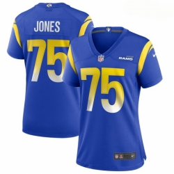 Women Los Angeles Rams #75 Deacon Jones Nike Royal Game Retired Player Jersey