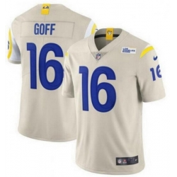 Youth Nike Los Angeles Rams 16 Jared Goff Bone 2020 New Vapor Untouchable Limited Jersey