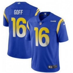 Youth Nike Los Angeles Rams 16 Jared Goff Royal 2020 New Vapor Untouchable Limited Jersey