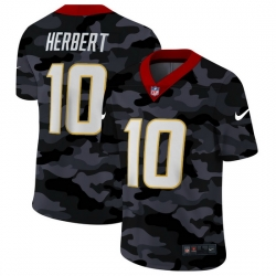 Los Angeles Chargers 10 Justin Herbert Men Nike 2020 Black CAMO Vapor Untouchable Limited Stitched NFL Jersey