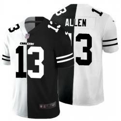 Los Angeles Chargers 13 Keenan Allen Men Black V White Peace Split Nike Vapor Untouchable Limited NFL Jersey