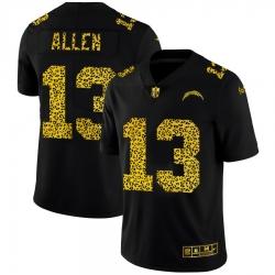 Los Angeles Chargers 13 Keenan Allen Men Nike Leopard Print Fashion Vapor Limited NFL Jersey Black