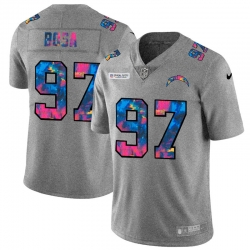 Los Angeles Chargers 97 Joey Bosa Men Nike Multi Color 2020 NFL Crucial Catch NFL Jersey Greyheather