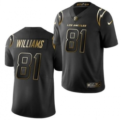 Men Mike Williams Los Angeles Chargers Black Gold limited edition Limited Jerse