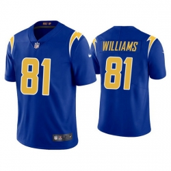 Men's Los Angeles Chargers #81 Mike Williams 2020 Blue Vapor Untouchable Limited Stitched Jersey
