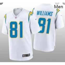 Men's Los Angeles Chargers #81 Mike Williams 2020 White Vapor Untouchable Limited Stitched Jersey