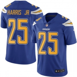 Nike Chargers 25 Chris Harris Jr Electric Blue Men Stitched NFL Limited Rush Jersey