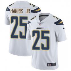 Nike Chargers 25 Chris Harris Jr White Men Stitched NFL Vapor Untouchable Limited Jersey