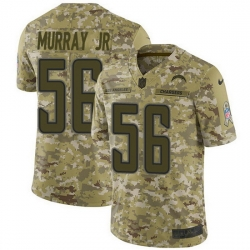 Nike Chargers 56 Kenneth Murray Jr Camo Men Stitched NFL Limited 2018 Salute To Service Jersey
