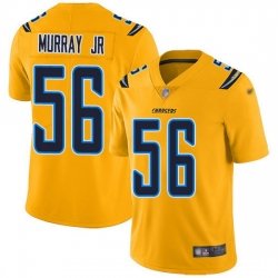 Nike Chargers 56 Kenneth Murray Jr Gold Men Stitched NFL Limited Inverted Legend Jersey
