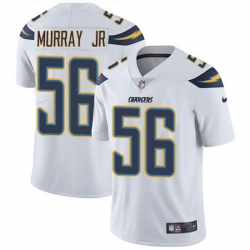 Nike Chargers 56 Kenneth Murray Jr White Men Stitched NFL Vapor Untouchable Limited Jersey