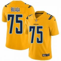 Nike Chargers 75 Bryan Bulaga Gold Men Stitched NFL Limited Inverted Legend Jersey