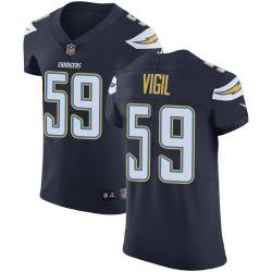 Nike Los Angeles Chargers 59 Nick Vigil Navy Blue Team Color Men Stitched NFL Vapor Untouchable Elite Jersey