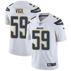 Nike Los Angeles Chargers 59 Nick Vigil White Men Stitched NFL Vapor Untouchable Limited Jersey