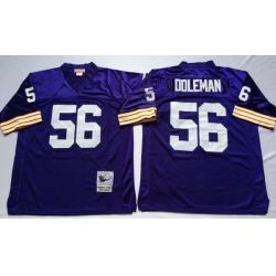 Men Minnesota Vikings 56 Chris Doleman Purple M&N Throwback Jersey