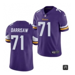 Men Minnesota Vikings 71 Christian Darrisaw Purple 2021 Vapor Untouchable Limited Stitched NFL Jersey