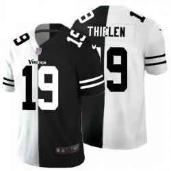 Minnesota Vikings 19 Adam Thielen Men Black V White Peace Split Nike Vapor Untouchable Limited NFL Jersey