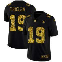 Minnesota Vikings 19 Adam Thielen Men Nike Leopard Print Fashion Vapor Limited NFL Jersey Black
