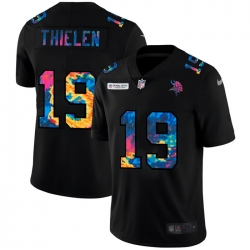Minnesota Vikings 19 Adam Thielen Men Nike Multi Color Black 2020 NFL Crucial Catch Vapor Untouchable Limited Jersey