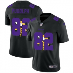 Minnesota Vikings 82 Kyle Rudolph Men Nike Team Logo Dual Overlap Limited NFL Jersey Black