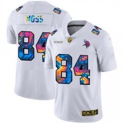 Minnesota Vikings 84 Randy Moss Men White Nike Multi Color 2020 NFL Crucial Catch Limited NFL Jersey
